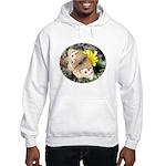 Butterfly on Flower Hooded Sweatshirt