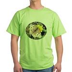 Butterfly on Flower Green T-Shirt