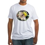 Butterfly on Flower Fitted T-Shirt