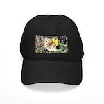 Butterfly on Flower Black Cap