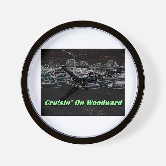 """Cruisin' On Woodward"" Wall Clock"