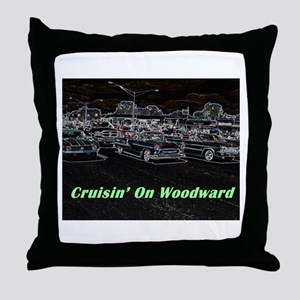 """Cruisin' On Woodward"" Throw Pillow"