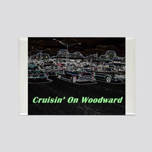 """Cruisin' On Woodward"" Rectangle Magnet"