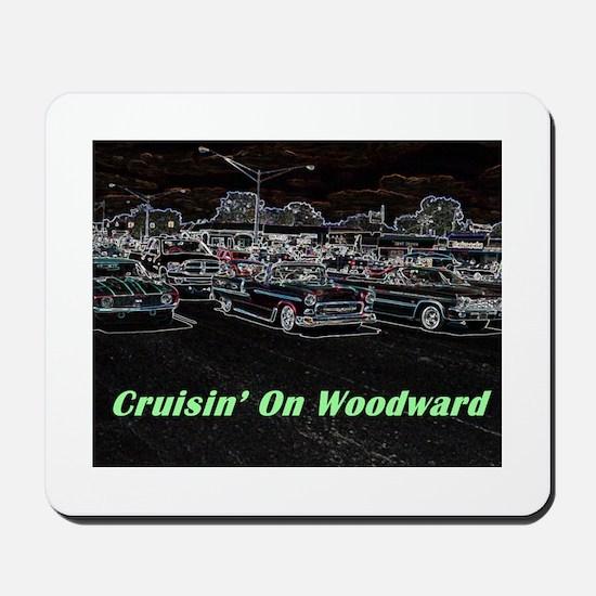"""Cruisin' On Woodward"" Mousepad"