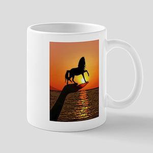 Horse on the hand Mugs