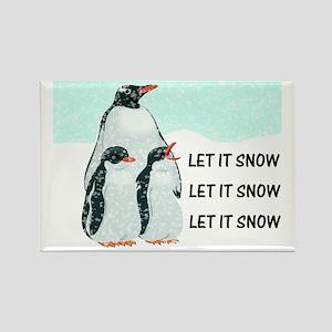 Let It Snow, Penguins Rectangle Magnet