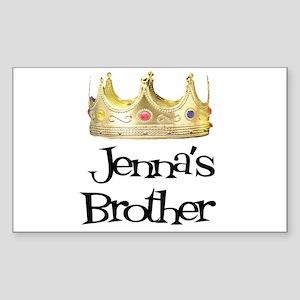 Jenna's Brother Rectangle Sticker