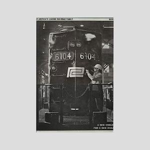 Penn Central Railroad 1968 Rectangle Magnet