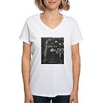 Penn Central Railroad 1968 Women's V-Neck T-Shirt