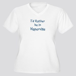Rather be in Naperville Women's Plus Size V-Neck T