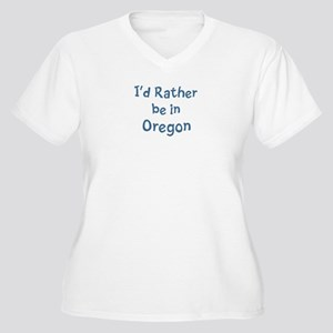 Rather be in Oregon Women's Plus Size V-Neck T-Shi