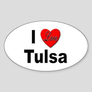 I Love Tulsa Oklahoma Oval Sticker