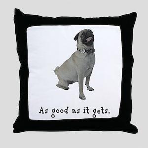 Good Pug Throw Pillow
