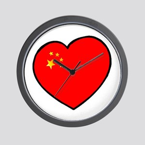 China Heart Wall Clock