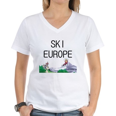 TOP Ski Europe Women's V-Neck T-Shirt