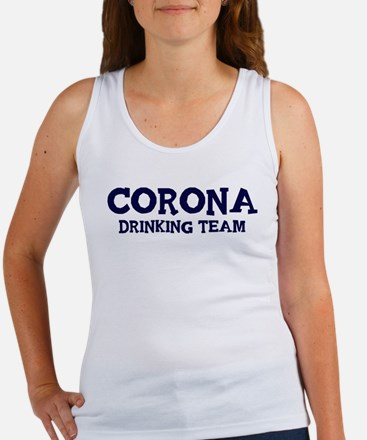 Corona drinking team Women's Tank Top