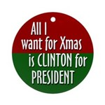 Clinton for President Xmas ornament