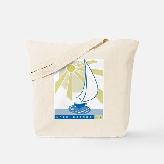 Lake George Sail Boat - Tote Bag