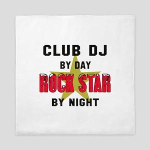club DJ By Day, Rock Star By night Queen Duvet