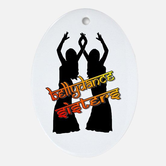 Bellydance Sisters fire Oval Ornament