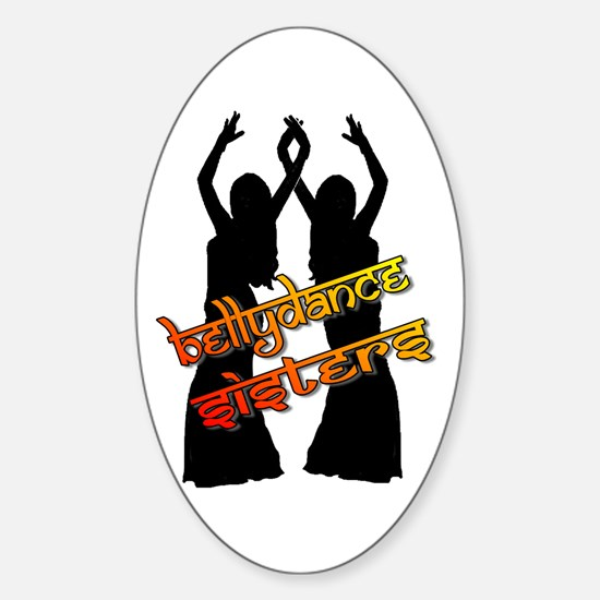 Bellydance Sisters fire Oval Decal
