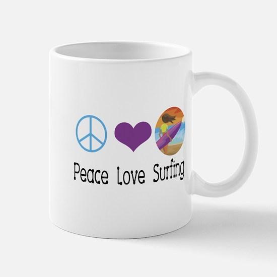 Peace Love Surfing Mug