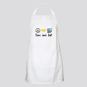 Peace Love Golf BBQ Apron
