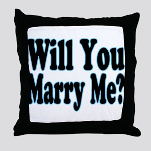 Will You Marry Me? His Throw Pillow