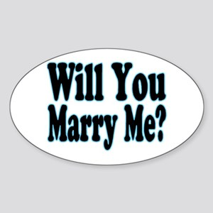 Will You Marry Me? His Oval Sticker