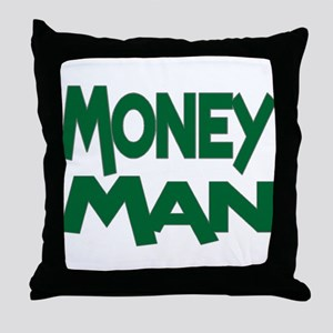 Money Man Throw Pillow