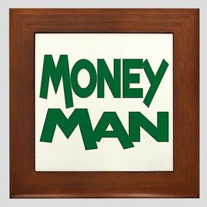 Money Man Framed Tile
