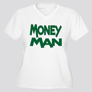 Money Man Women's Plus Size V-Neck T-Shirt