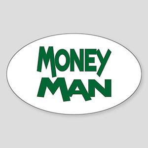 Money Man Oval Sticker