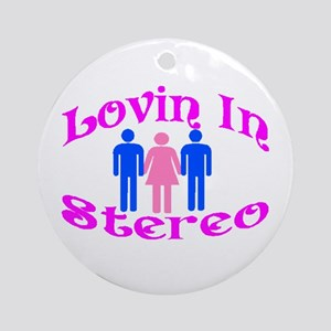 Woman Stereo Ornament (Round)