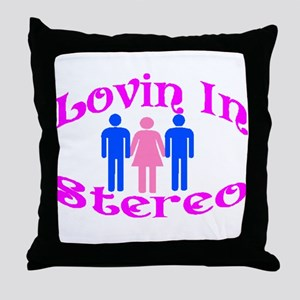 Woman Stereo Throw Pillow