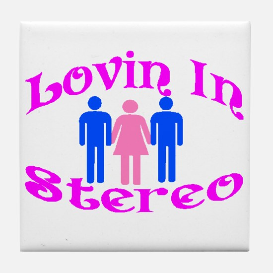 Woman Stereo Tile Coaster