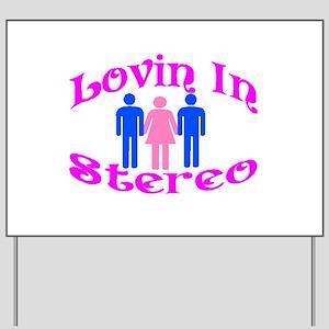 Woman Stereo Yard Sign