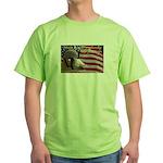 Ruby the Patriotic Goat Green T-Shirt