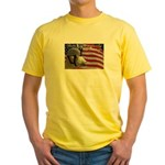 Ruby the Patriotic Goat Yellow T-Shirt