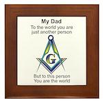 My Dad Framed Tile