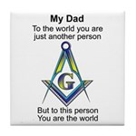 My Dad Tile Coaster