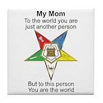 My Mom Tile Coaster