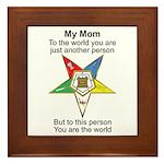 My Mom Framed Tile