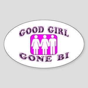 Good Girl Gone Bi Oval Sticker