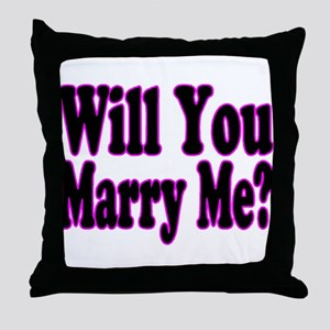 Will You Marry Me? Hers Throw Pillow