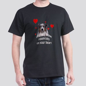 Aussie Pawprints Dark T-Shirt