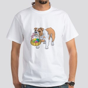 Bulldog Easter White T-Shirt