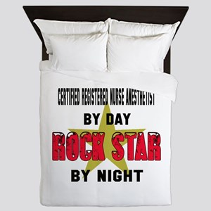 Chef By Day, Rock Star By night Queen Duvet