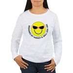 Silly Smiley #44 Women's Long Sleeve T-Shirt