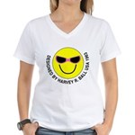 Silly Smiley #44 Women's V-Neck T-Shirt